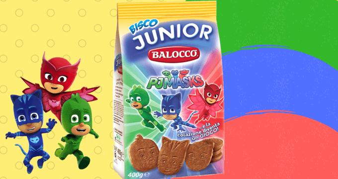 Bisco Junior Balocco PJ Masks: gusto e gioco per i più piccoli